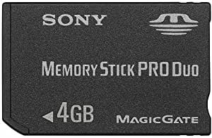 Sony 4 GB Memory Stick PRO DUO Media (MSX-M4GS) (Retail Package)