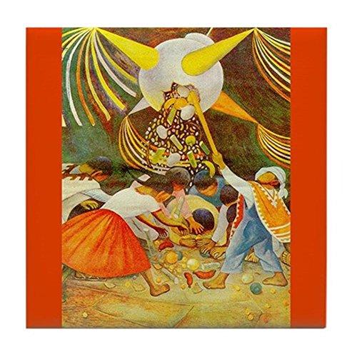 CafePress - Diego Rivera Pinata Mexico Art Tile Coaster - Tile Coaster, Drink Coaster, Small Trivet