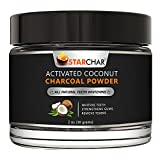 Activated Charcoal Teeth Whitening Powder by Star Char - 2 oz - Mint - Charcoal Toothpaste for Sensitivity & Bright White Smile - All Natural Coconut - Gluten Free - Enamel-Safe - Made in USA