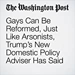 Gays Can Be Reformed, Just Like Arsonists, Trump's New Domestic Policy Adviser Has Said | Amy Ellis Nutt