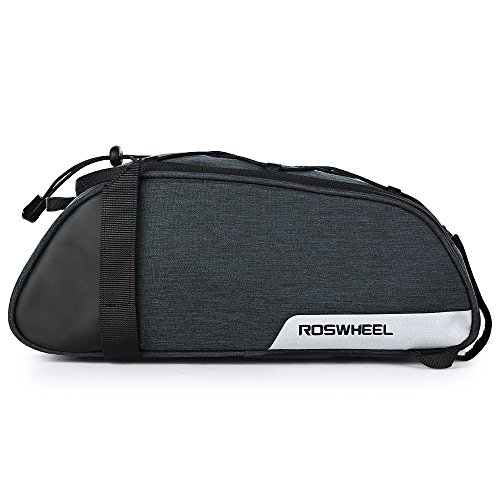 Roswheel Multi-Functional Bike Trunk Bag Water Resistant Commuter Bag with Adjustable Hooks, Carrying Handle, 7L Capacity by Roswheel