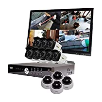 REVO America Aero HD 1080p 16 Ch. Video Security System with 12 Indoor/Outdoor Cameras, White/Black (RA161D4GB8GM22-2T)