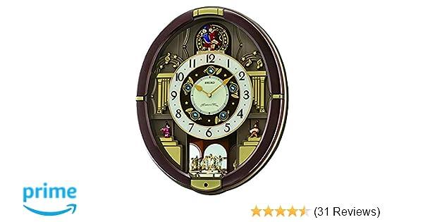 Amazon.com: Seiko QXM488BRH Classic Melody In Motion Alarm Clock: Watches