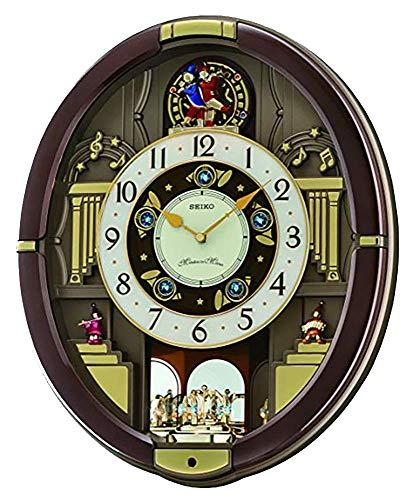 Seiko QXM488BRH Classic Melody In Motion Alarm Clock