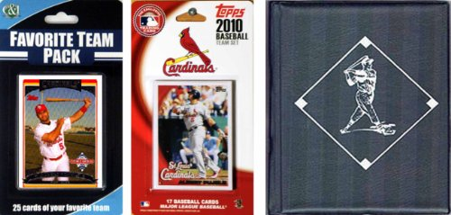 MLB St. Louis Cardinals Licensed 2010 Topps Team Set and Favorite Player Trading Cards Plus Storage (Saints Player)