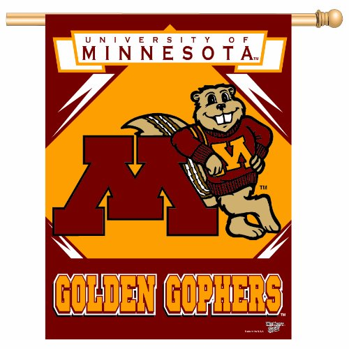 NCAA Minnesota Golden Gophers 27-by-37 inch Vertical Flag