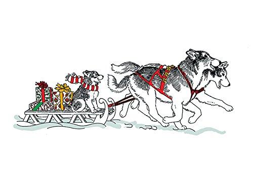 Huskies Santa - Siberian Husky Christmas Card Santa's Helpers (Inside Reads: Merry Christmas!)