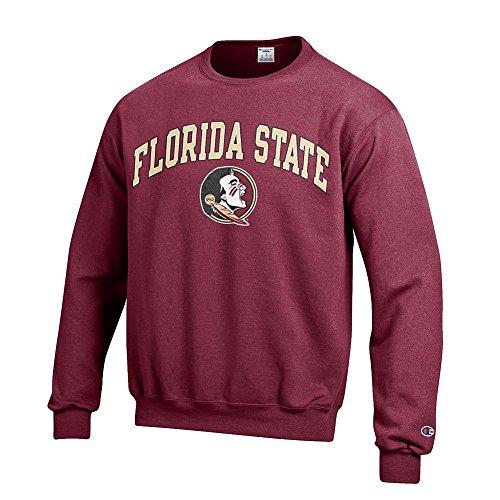 Florida State Seminoles Crewneck Sweatshirt Varsity Garnet - (Garnet Mens Sweatshirt)