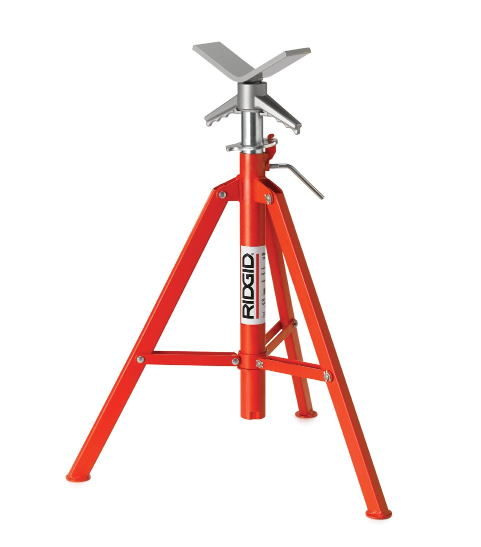 RIDGID 22168 Model VF-99 V Head High Folding Pipe Stand, 12-inch Pipe Stand