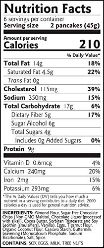 Birch Benders Keto Chocolate Chip Pancake & Waffle Mix with Almond/Coconut & Cassava Flour, 3 Count by Birch Benders (Image #2)