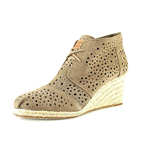 26a3ad1c0eb Toms Women s Desert Wedges Taupe Moroccan Cutout Casual Shoe 8 Women US -  Buy Online in KSA. Apparel products in Saudi Arabia. See Prices