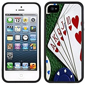 Royal Flush Poker Handmade iPhone 5 5S Black Case
