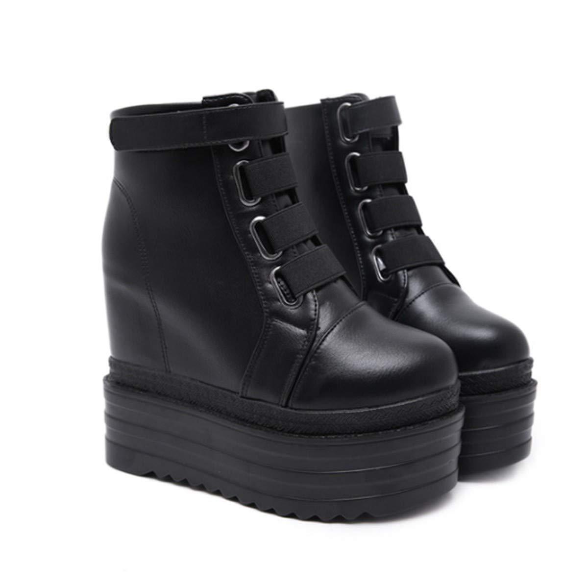 LBTSQ-Hang Hacken Super-High-Heels Wasserdicht Muffin-Dicke Hintern 12Cm Schuhe Sexy Kampf Innere Entwicklung Wildleder Frauen-Stiefel