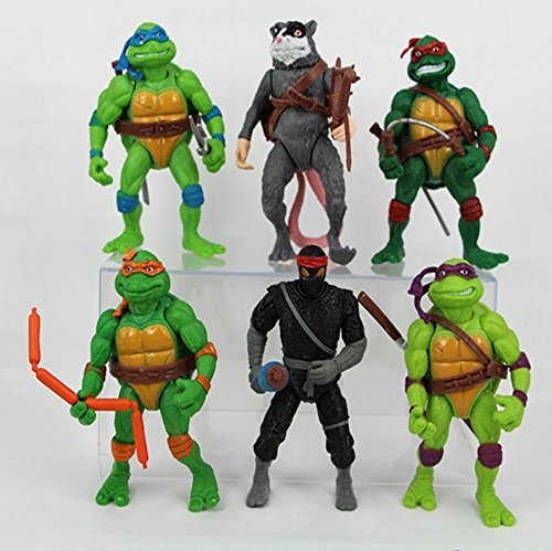 [Teenage Mutant Ninja Turtles Action Figures Collectible Figurines (6 Piece), 12cm/4.7