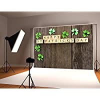 Kate 7x5ft Happy St. Patricks Day Photography Backdrop Brown Wood Background for Customized Photo Studio Props