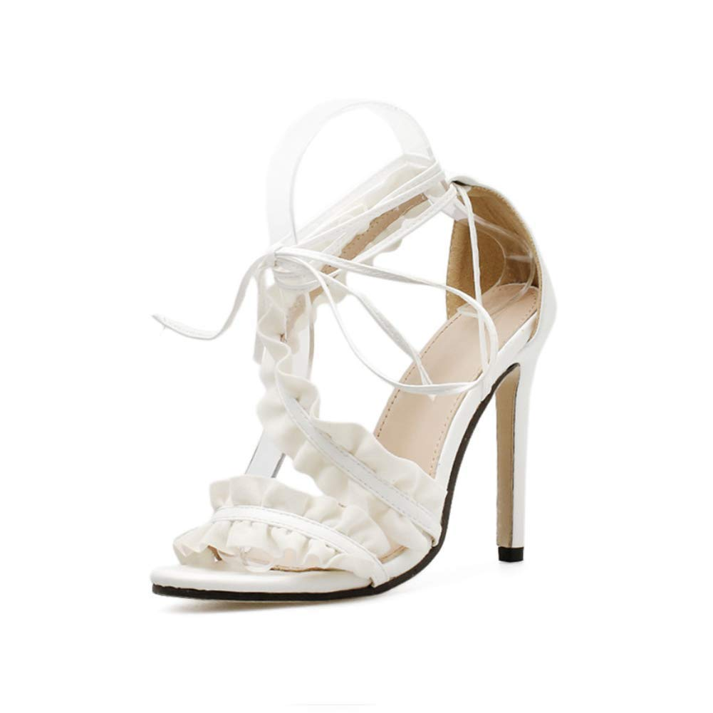 KOKQSX-Damen Plateau Sandalen peep Toe Pumps Toe plateaufrauen in high Heels Leere Schuhe Sandalen Party - Schuhe