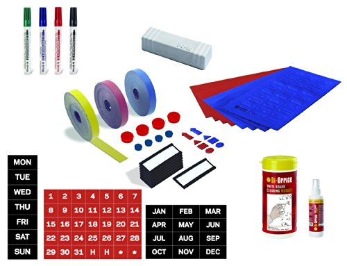 - MasterVision Professional Magnetic Kit for Use with Magnetic Planning Boards, 31-Pieces