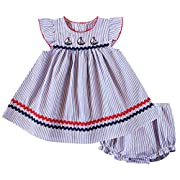 Good Lad Newborn/Infant Girls Seeruscker Sundress with Nautical Applique and Matching Panty (24M)