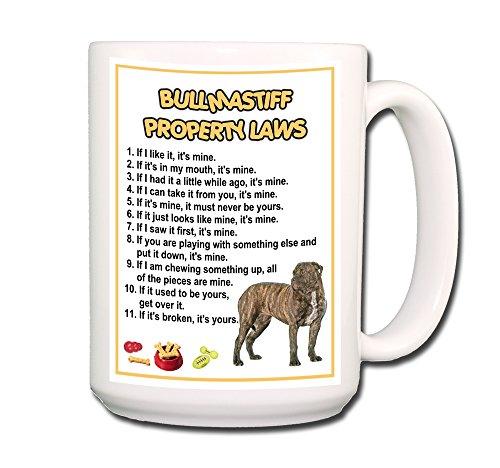 Mug Bullmastiff - Bullmastiff Property Laws Coffee Tea Mug 15 oz No 2