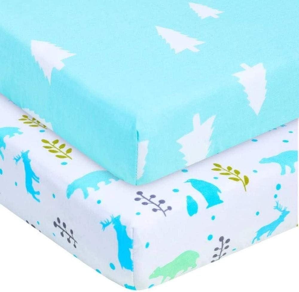 Novarena Sábanas de Cuna 28 x 52 Pulgadas, 100% algodón orgánico, Paquete de 2 sábanas de colchón para Cuna para bebé, se Adapta a colchón estándar para bebé y colchón Infantil: Amazon.es: Hogar