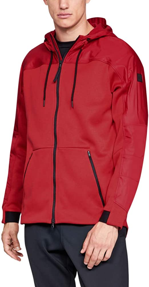 Under Armour Coldgear Swacket Chaqueta Deportiva, Hombre, Rojo (Red/Radio Red), SM