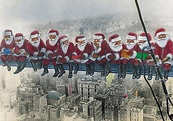 Originelle Weihnachtskarten.Lustige Weihnachtskarte Weihnachtsmänner In New York Umschlag Witzige Und Originelle Grusskarte Zu Weihnachten