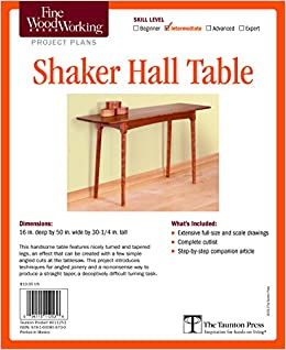Fine Woodworkingu0027s Shaker Hall Table Plan (Fine Woodworking Project Plans):  Christian Becksvoort: 9781600859700: Amazon.com: Books