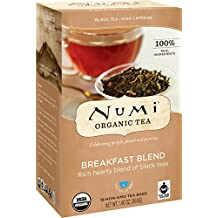 Numi Organic Tea Breakfast Blend, (Pack of 3 Boxes) 18 Bags Per Box, Organic Black Tea in Non-GMO Biodegradable Tea Bags, Full-Caffeine Black Tea Makes an Excellent Coffee Substitute