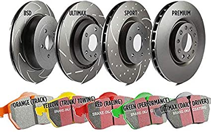 Rotors and Pads Front Rotor Dia EBC Brakes S20K1231 S20 Kits Ultimax and Plain Rotors Incl S20 Kits Ultimax and Plain Rotors 12.8 in