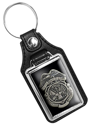 Faux Leather Key Tag With Army Military Police - Leather Fob Key Army