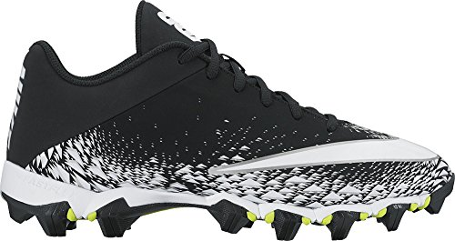 NIKE Men's Vapor Shark 2 Football Cleat Black/White/Metallic Silver Size 6.5 M US