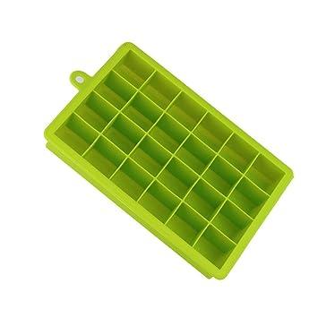 hlhn 24 LED de hielo cubo Rectangular caliente Barra de congelación de silicona mold Pudding Jelly Chocolate Eléctrica molde antiadherente molde para tartas ...