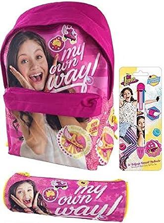 Mochila Soy Luna + Estuche + regalo bolígrafo 6 colores: Amazon.es: Oficina y papelería