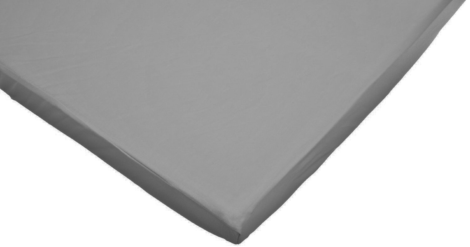 American Baby Company 100% Cotton Value Jersey Knit Fitted Portable/Mini-Crib Sheet, Gray