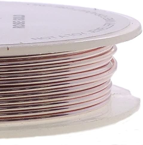 1 x Rose Gold Plated Copper 0.8mm x 6m Square Craft Wire Coil X1695