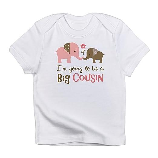 3aeafc368 Amazon.com  CafePress Big Cousin - Elephant Infant T-Shirt Baby T ...