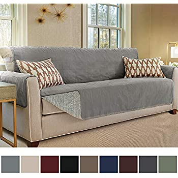 Amazon.com: SureFit Deluxe Sofa Furniture Cover with arms ...