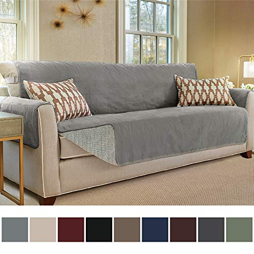 (Gorilla Grip Original Slip Resistant Oversize Sofa Slipcover Protector, Seat Width Up to 78