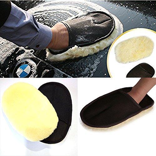 hongfei 5PCS Imitation Lambswool Car Washing Clean Glove,vehicles mitt car cleaning mitt soft brush for Motorcycle Bikes Truck -
