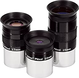 10mm 17mm 25mm Set Sirius Plossl Eyepieces