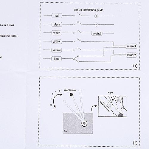 amazon com: yosoo universal digital led gear indicator motorcycle display  shift lever sensor blue: automotive
