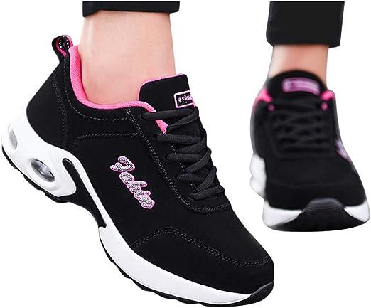 Zapatillas Deportivas de Mujer Air Cordones Zapatillas de Running Fitness Sneakers Zapatillas de Deportes Mujer Zapatos Deportivos Running Zapatillas para Correr Ligero y con Estilo: Amazon.es: Oficina y papelería