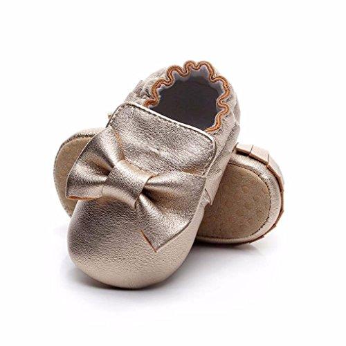 TPulling Mode Junge Und Mädchen Martin Stiefel Herbst Und Winter Baby Quaste Bowknot Kleinkind Schuhe Babyschuhe Prinzessin Schuhe Rutschfeste Turnschuhe Plattenschuhe Lässige Schuhe Gold