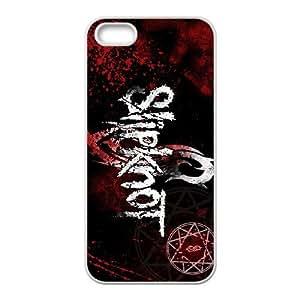 Slipknot 03 funda iPhone 5 5s funda del teléfono celular de cubierta blanca, el funda iPhone 5 5s casos funda blanca