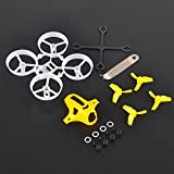 Tiny 65mm Frame Kits Yellow with Props Removal Tool for Tiny Whoop Micro FPV Quadcopter Mini Drone