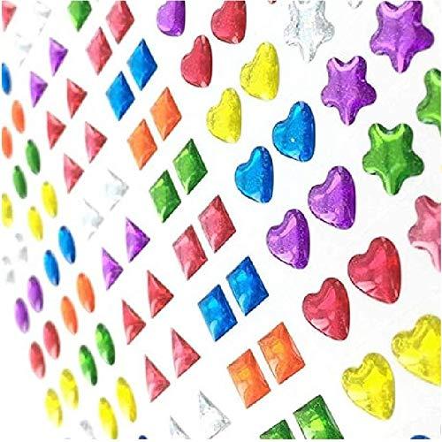 d/écorations de cartes Designs assortis et couleurs joyaux de scrapbooking 4 Cartes b/âton sur boucles d/'oreille plus de 375 paires de boucles d/'oreille bijoux autocollants