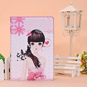 Elegant Girl Smart Folding Stand PU Leather Case For iPad Mini.
