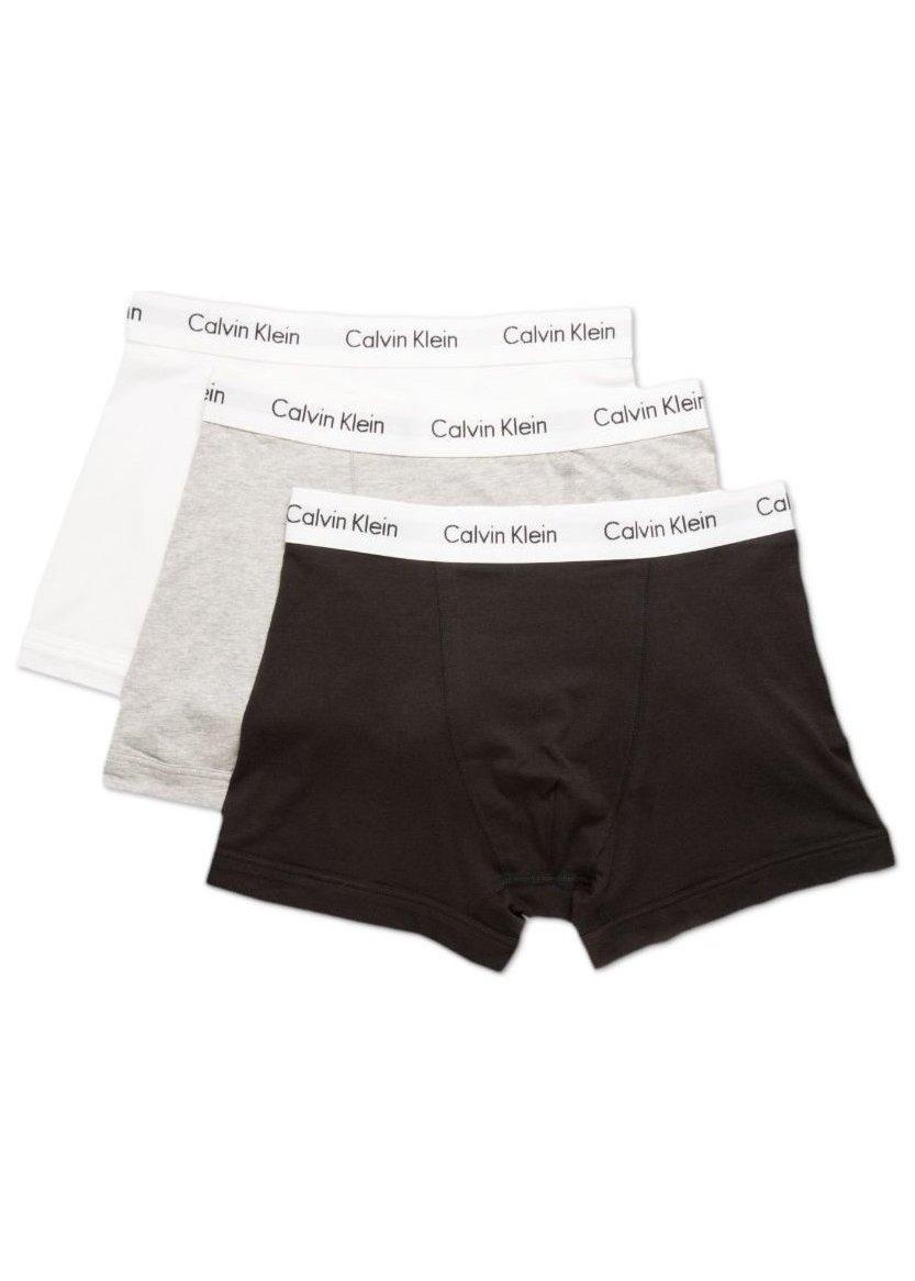 Calvin Klein - Men's Cotton Boxers. Classic Fit Low Rise 3 Pack Boxer Shorts