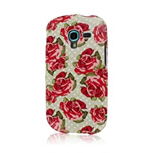 Mpero Snapz Series - Carcasa de goma para Samsung  Galaxy Exhibit T599, carcasa de rosas rojas