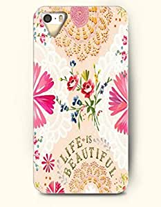 iPhone 5 5S Hard Case (iPhone 5C Excluded) **NEW** Case with Design Life Is Beautiful- ECO-Friendly Packaging - Life Quotes Series (2014) Verizon, AT&T Sprint, T-mobile